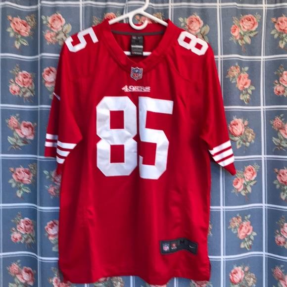online store eebad 23e27 San Francisco 49ers Vernon Davis Nike Elite Jersey